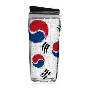 Korea Flag 태극기 디자인 텀블러 올림픽 응원도구