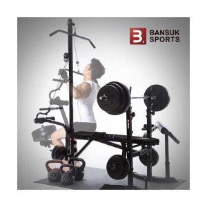 (현대Hmall) 반석스포츠  디럭스벤치 PVC바벨70kg 세트/역기봉포함/벤치프레스