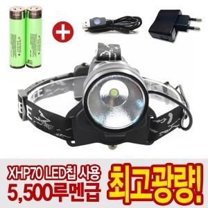 5500루멘 초광량(XHP-70)LED헤드랜턴(30W)/100대한정