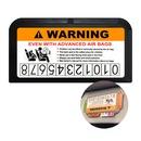 썬바이저카드포켓 주차번호판기능 카드수납 블랙