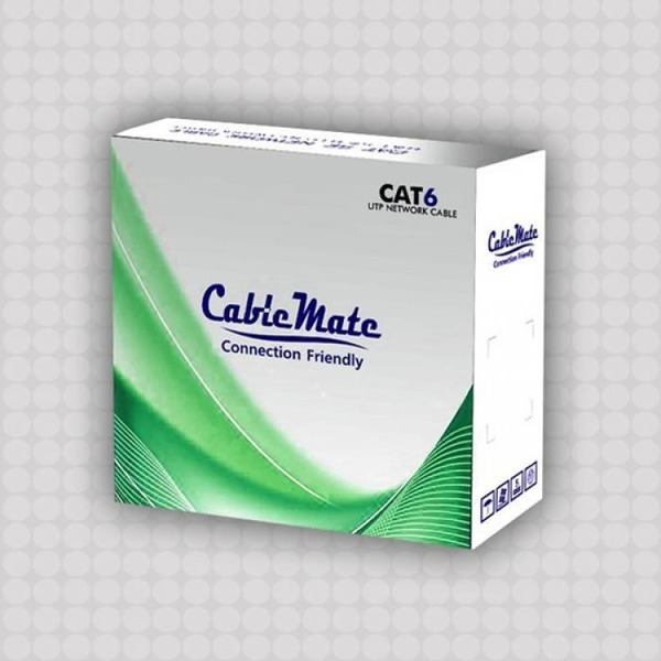 CableMate CAT.6 UTP 랜 케이블 (단선) 100M 그레이