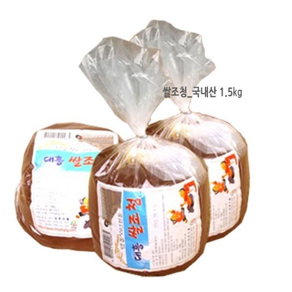 대흥 쌀조청 국산1.5kg 물엿 식자재 고추장재료 맥아