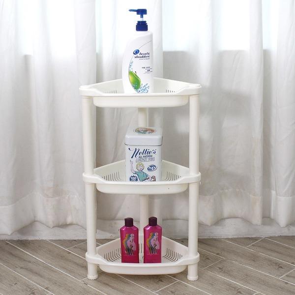 나비 코너정리대 3단/욕실선반 다용도 선반 코너