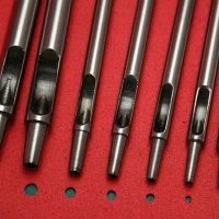 가죽공예 원형 타공 펀치 10개 1세트 0.5~5mm