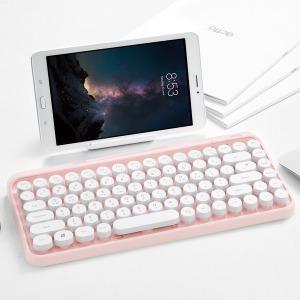 블루투스 미니키보드 타자식 엑토 BTK-01 핑크