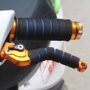 오토바이 자전거 핸들그립 브레이크레버 스펀지 블루