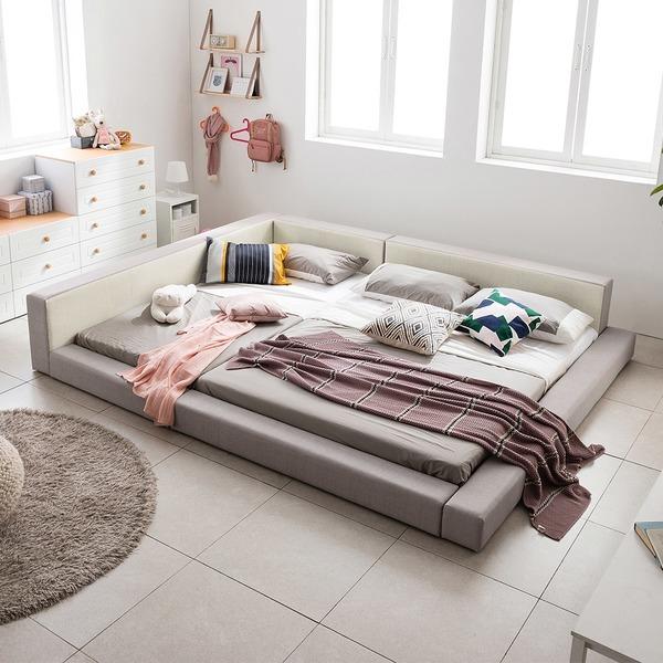 아씨방가구 1+1 저상형 침대/패밀리침대(매트포함)