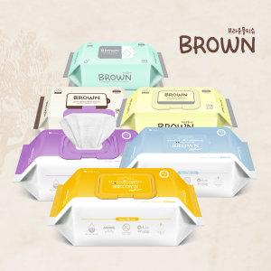 브라운 신생아 아기물티슈 전라인 모음