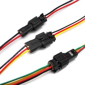 자동차 전원 1P2P3P4P 하네스 방수커넥터 케이블코드
