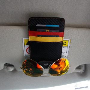 차량용 썬바이저 카드포켓 명함 영수증 CD 클립 홀더