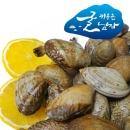 100%국내산/왕 바지락/바지락1kg/조개 편리한 지퍼백