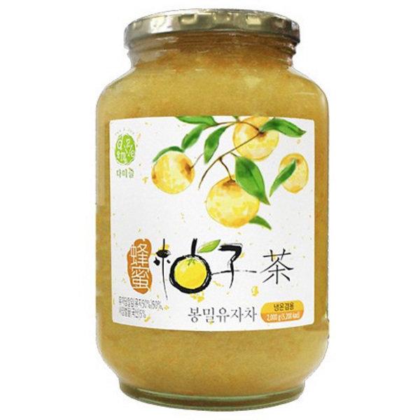 [다미즐] 다미즐 봉밀 유자차 2kg 1박스 6개