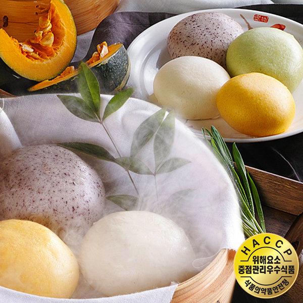 HACCP/안흥쌀찐빵 단호박 흑미 새싹보리 안흥찐빵30개