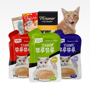 쮸루쮸루 24개 미아모아 츄르 고양이간식 파우치