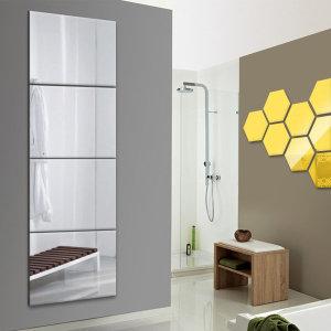 4p 옷장/전신/붙이는 안전 아크릴 거울/벽걸이/욕실
