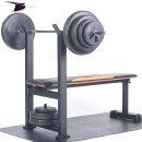 포스스포츠 포스벤치프레스 블랙원판20~70kg세트