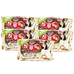 일본정품   붙이는 하루핫팩 10p x 5개 하루온팩/핫팩