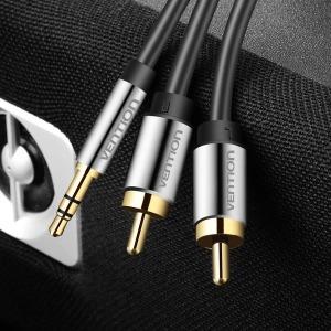 벤션 무산소 3.5 스테레오 to 2 RCA 오디오 케이블 5m