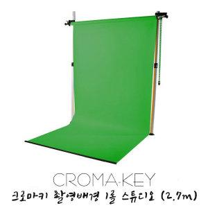 크로마키 촬영 배경 그린 롤 스튜디오 세트 (2.7m)