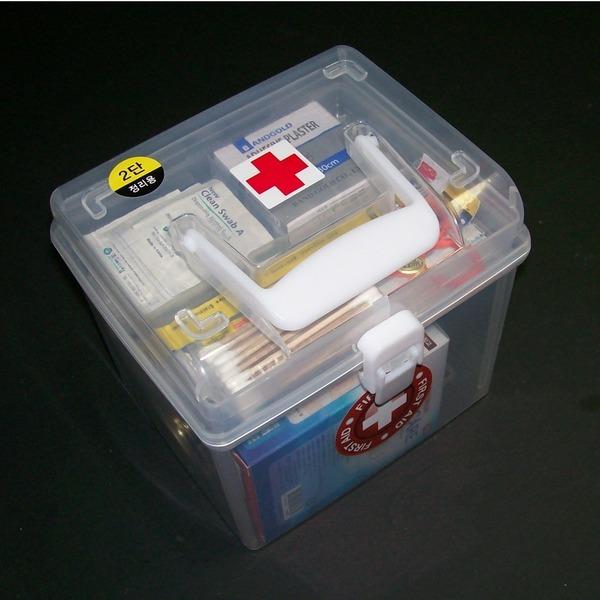 정사각 구급함 15종세트-비상약 케이스 약상자 자동차