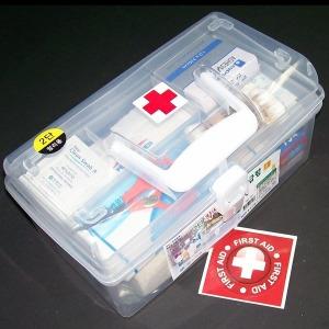 중형 14종 구급함 세트-비상약 케이스 약상자 자동차