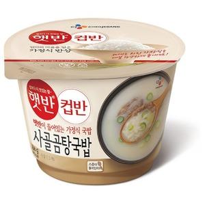 컵반 사골곰탕국밥 166g 4개 / 유통기한:11.17
