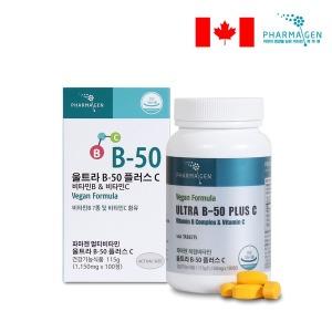 울트라 B-50 콤플렉스+C 복합비타민B 100일