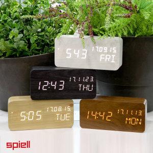 신제품 우드블럭 LED탁상시계-LED시계/시간 온도 날짜 알람