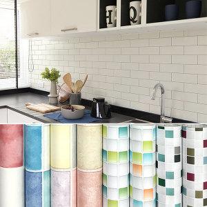 주방 욕실 타일 리폼/고광택/시트지 방수 대리석 벽지