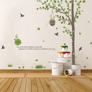 인테리어 포인트스티커 벽지 시트지 IP001-가든트리