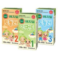 베지밀/아기두유/1.2.3단계/190ml(16팩)X2박스/토들러