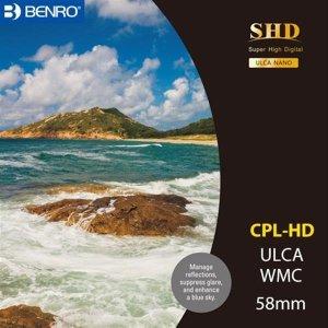 벤로 카메라 원형 CPL필터 SHD CPL-HD WMC/SLIM 58mm