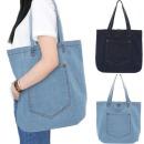 원포켓 청 에코백 학생가방 숄더백 여성가방 보조가방