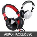 ABKO 헤드셋 HACKER B90  화이트