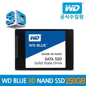 WD BLUE 3D SSD 250GB WD공식수입원/우체국택배 AS 3년