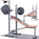 포스스포츠  포스각도벤치프레스 블랙원판20~70kg세트