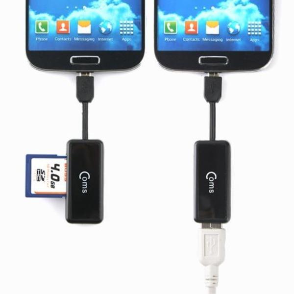 스마트폰 OTG USB SD카드리더기 젠더 케이블5핀 MV990