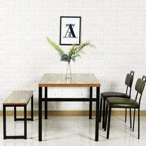 빈티지 식탁 업소용 테이블 사각 카페 음식점