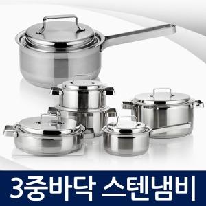 쉬크 3중바닥 올스텐레스 냄비/인덕션 가능/국내생산