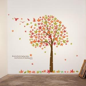 인테리어 포인트스티커 벽지 IP009-단풍나무