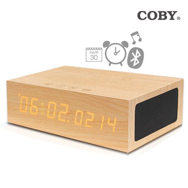 [코비] 무선충전 LED 알람시계 S8 블루투스 스피커