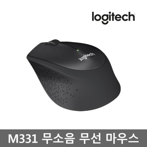 로지텍코리아 M331 무선 무소음 마우스(블랙)