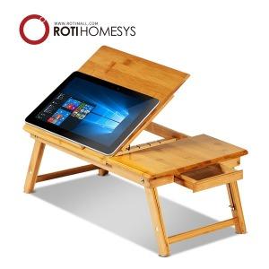 접이식 참대나무 노트북 태블릿 테이블 거치대 받침대