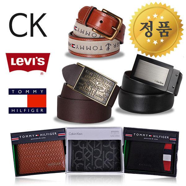 CK 리바이스 타미힐피거 정품 벨트/지갑/가죽/남성