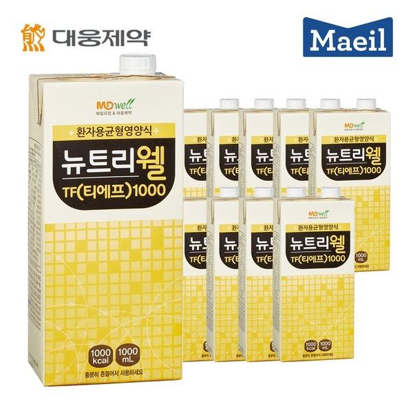 뉴트리웰 TF 1000mlx10팩/메디웰/식이섬유/단백질영양