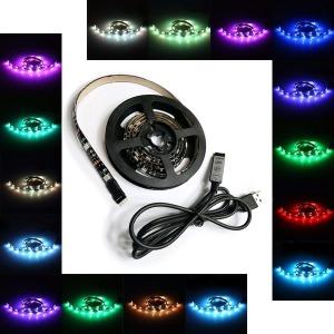 USB전용 RGB LED바 5V용 (1m) 유선컨트롤러 포함