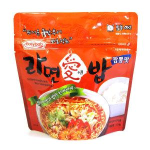 라면애밥 짬뽕맛/전투식량/비상식량/여행음식/라면밥