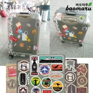 리모와 스타일 캐리어 스티커 빈티지 라벨 여행가방
