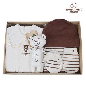 스윗하트오가닉  출산선물 오가닉 브라운곰 신생아 선물세트
