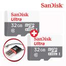 리더기증정 SanDisk 마이크로 울트라SDHC 32G+32G Set